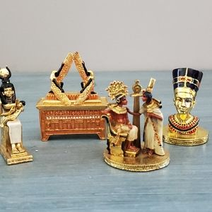 Egyptian Collectible Figurines and Trinket Box